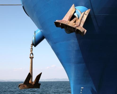 ship with anchor